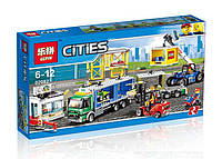 Конструктор Lepin 02082 Город Грузовой терминал (аналог Lego City 60169)