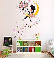 "Интерьерная наклейка на стену ""Лунная фея"", фото 1"