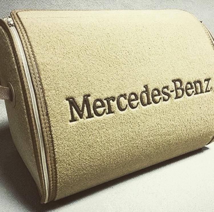 57135d369439 Сумка органайзер в багажник, сумка для инструментов, автомобильная сумка с  логотипом, Mercedes бежевый