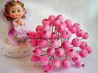 Ягоды калины в сахаре нежно-розовые 10 ягод