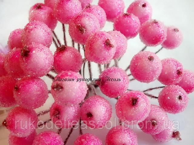 искусственные ягоды светло-розовые