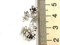 Шапочка для Бусин, Сталистый цвет, 12 мм