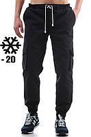 Черные зимние штаны Ястреб