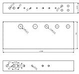 Шасі для гітарного підсилювача на 50Вт, MB-50GA (Ш432 Г165 В64) чорний, RAL9005(Black textured), фото 4