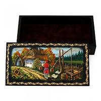 Шкатулка сувенир ручной работы пейзаж