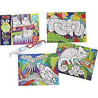 """3D раскраска """"Животные и растения"""" Melissa&Doug  (MD9965)"""
