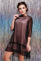 Женское двойное платье с сеткой (Arina fup), фото 2