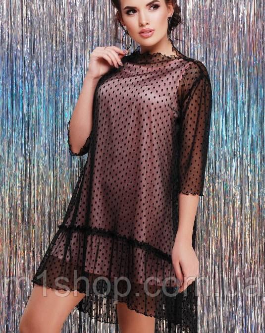 Женское двойное платье с сеткой (Arina fup)