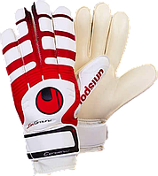 Футбольные перчатки UHLSport (p.8,9) с защитными вставками.