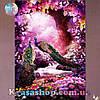 Алмазная вышивка 34х24 Павлины в розовом лесу