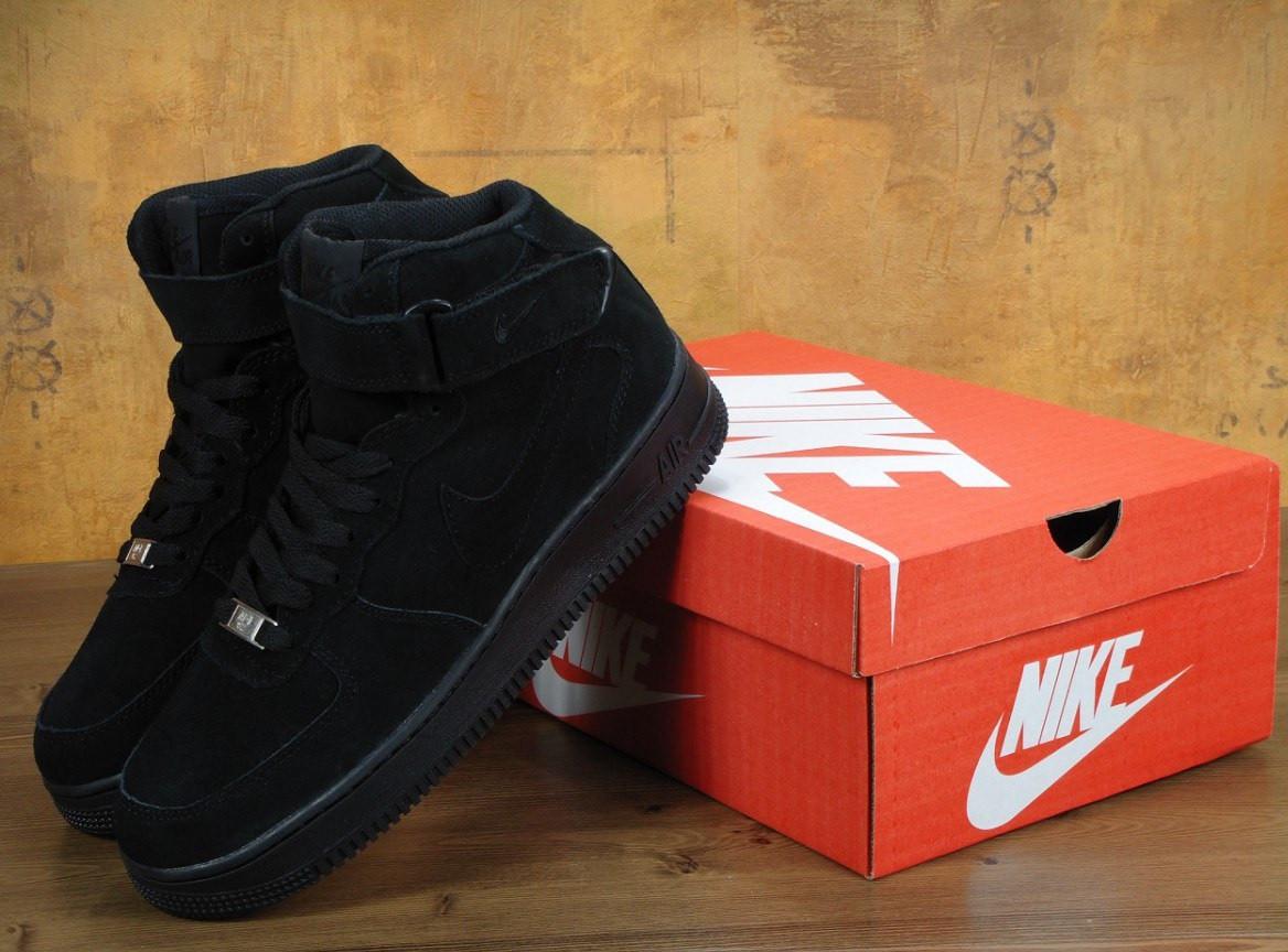 63d482cb Зимние кроссовки Nike Air Force 1 High черные с мехом (Реплика ААА+), цена  1 449 грн., купить в Днепре — Prom.ua (ID#641927730)