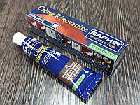 Жидкая кожа Saphir Creme Renovatrice 25 мл цвет средний коричневый (37)