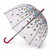 Женский зонт-трость прозрачный Fulton Birdcage-2 L042 Raining Butterflies бабочки