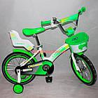 Детский велосипед Crosser Kids Bike 12 дюймов бело-салатовый, фото 3