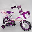 Детский велосипед Crosser Kids Bike 12 дюймов с сиденьем для куклы бело-фиолетовый, фото 4
