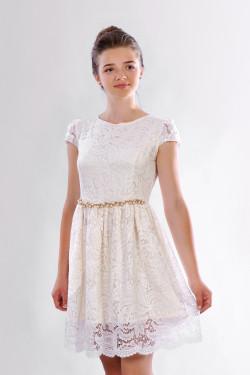 Стильное подростковое платье гипюровое