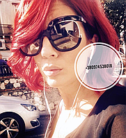 Солнцезащитные очки квадратные Ferragamo черные