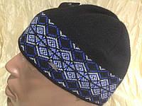 Мужская  шапка утепленная  с рисунком