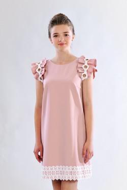 Праздничное подростковое платье с красивыми рукавами