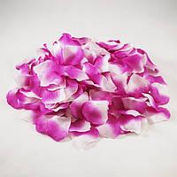 Искусственные лепестки роз бело-сиреневые