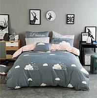 Постельное белье Тучки саржа 100% хлопок комплект евро двуспальный кровать 2.0м