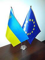 Флажки Украины настольные
