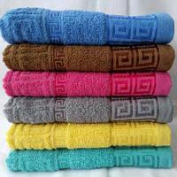 Яркие полотенца для лица хорошего качества. Размер: 1,0 x 0,5