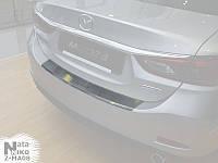 Накладка на бампер с загибом Hyundai ACCENT IV седан FL с 2017 г. (NataNiko)