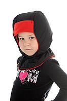 Шапка-шлем зимняя контрастная