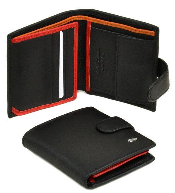 Портмоне Classik-color кожа DR. BOND MS-22 black-red-orang