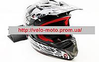 Шлем кроссовый HF-117 черный
