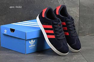 Чоловічі кросівки Adidas Gazelle,темно сині з червоним 41, 44,45