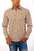 Рубашка коричневая клетка