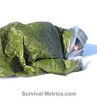 Blizzard survival tube спальный термо мешок для выживания тепловой спасательный спальник на основе майлара, фото 1