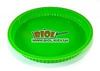 Силіконова форма для випічки пирога, торту 25х3см кругла зеленого кольору Stenson HH-131-6, фото 1