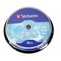 Диск Verbatim CD-R 80 52x, Cake 10, Extra