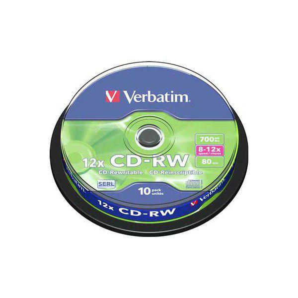 Verbatim CD-RW 700Mb 12x Cake 10