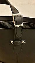 01 Натуральная кожа, Большая сумка женская, черная, ультраматовая, на молнии, фото 3