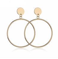 Серьги кольца женские код 1351