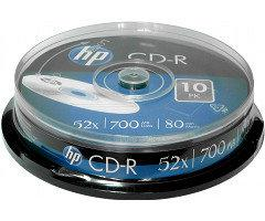 Диск HP CD-R 700 MB 52x Cake box/10