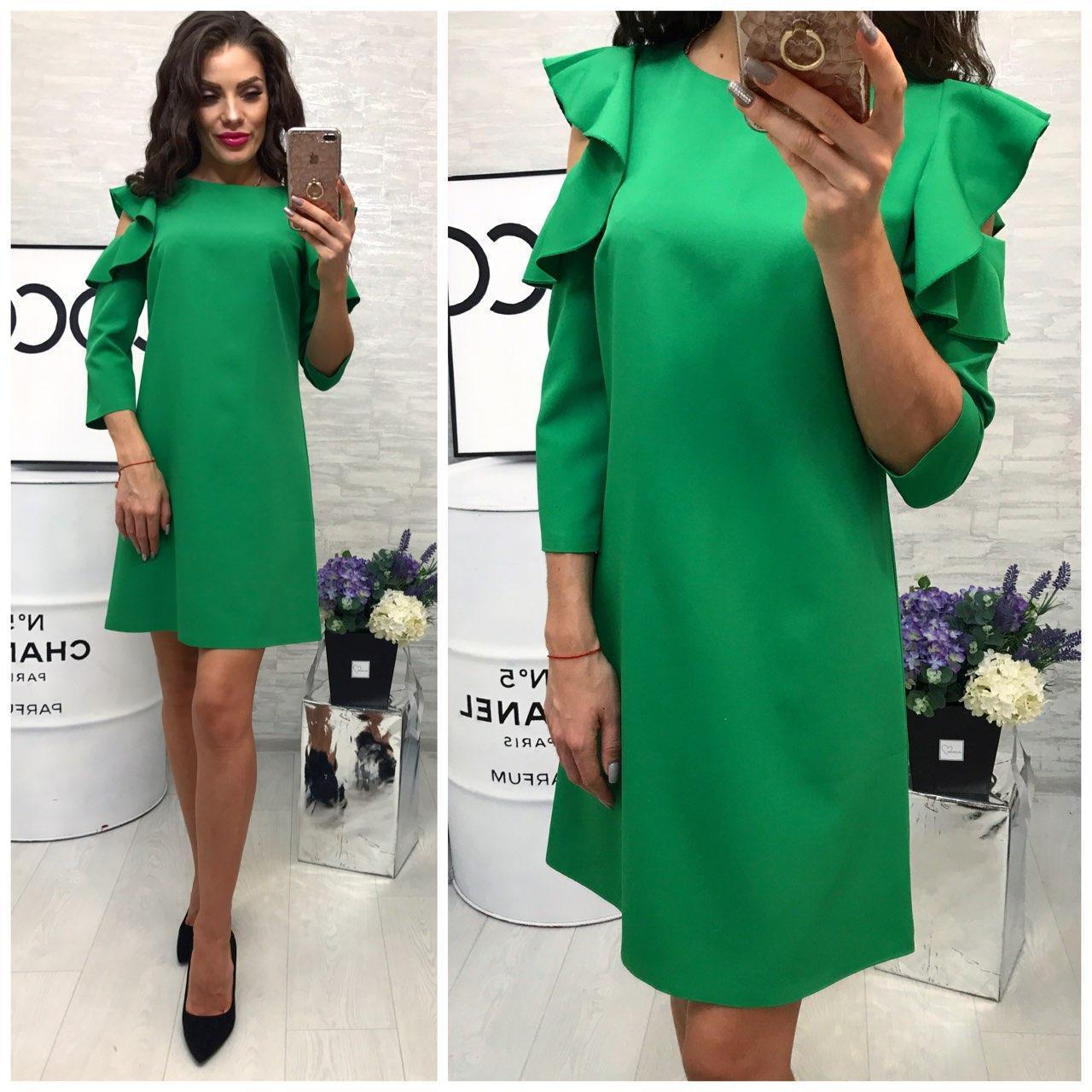 b3179a017eb Платье модель 783 2 зеленый - Интернет магазин женской одежды Khan в Одессе