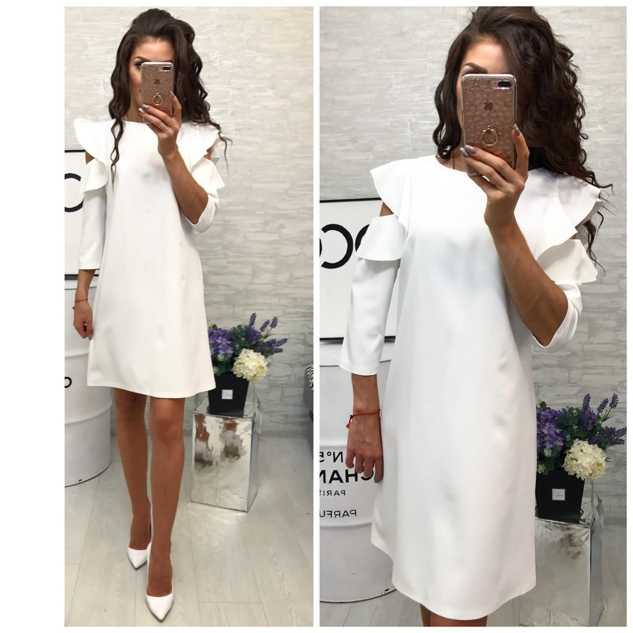 f665be40e54 Платье модель 783 2 белый - Интернет магазин женской одежды Khan в Одессе