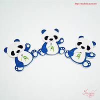 Деревянные пуговицы медведь панда 28х26мм для рукоделия, фото 1