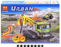 Конструктор URBAN Грейдер дослідників вулканів 342дет. (коробка)10639 р.41*28*6см(Ч)