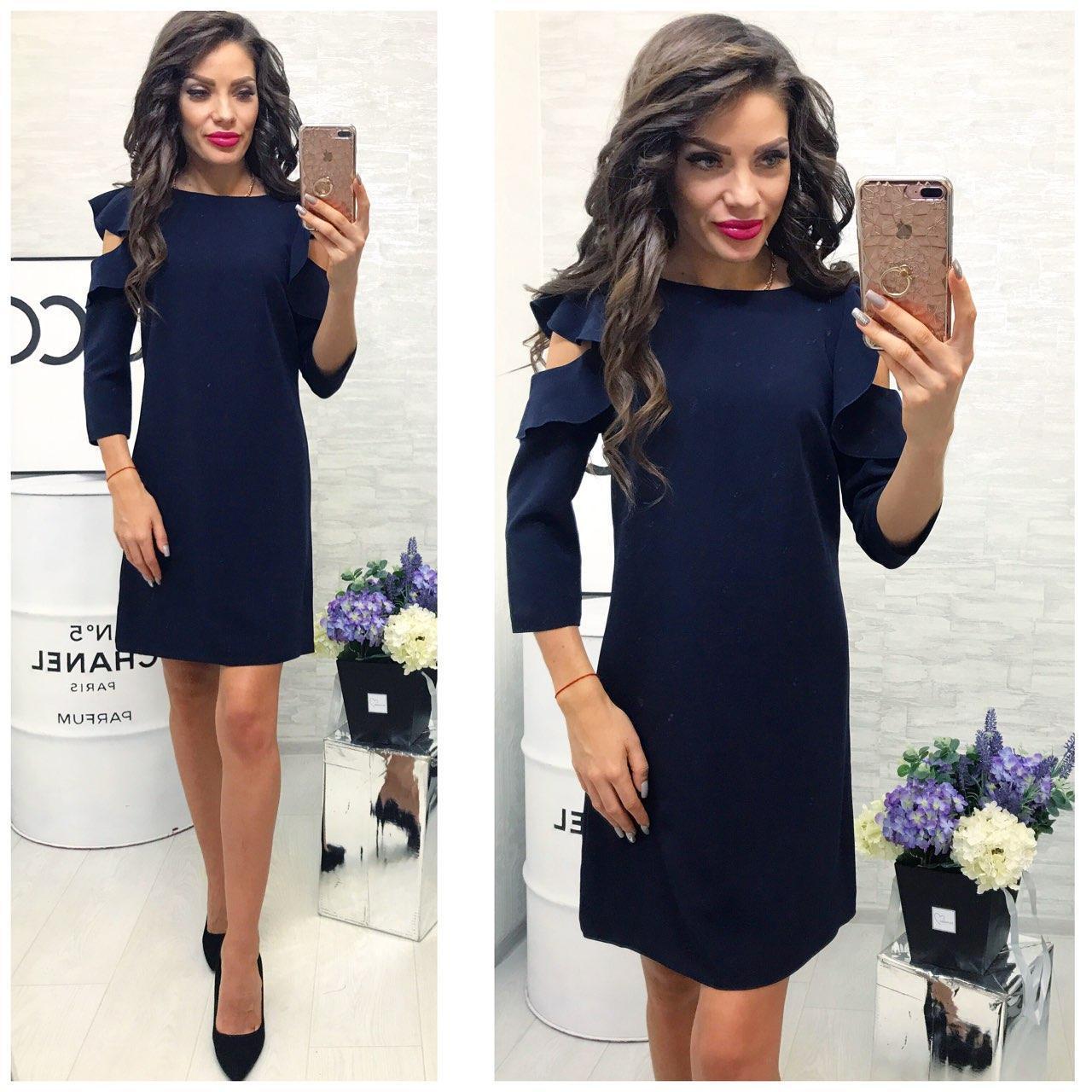 6fe20a0a821 Платье модель 783 2 темно-синий  продажа