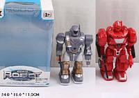 Робот батар. 906/7 2 вида, свет, звук, в коробке 24*16*11см( Ч )