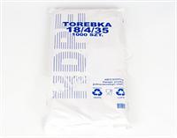 """Фасовочные полиэтиленовые пакеты """"Torebka белая №9 18х35 750г. """""""