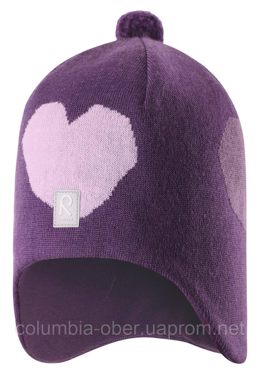 Зимняя шапка для девочки Reima Vadelma 528547-5930. Размер 56.