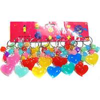 Брелок пластик(сердце с кубиками)