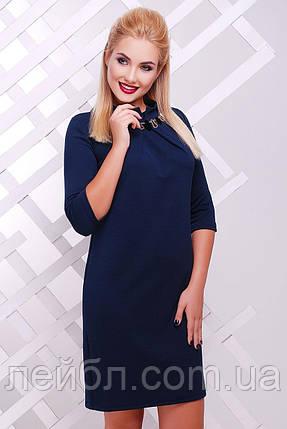 "Платье  Бусина синий-материал""кукуруза"" разм.44-52, фото 2"